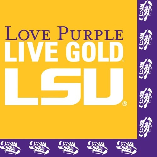 LSU Paper Luncheon Lunch Napkins 20 ct Tailgating Football Party