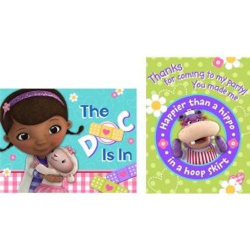 Doc McStuffins Lambie Hallie Birthday Party 8 Invitations Thank Yous