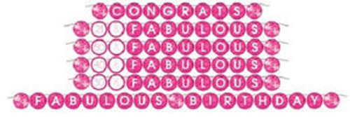 Fabulous Pink Cocktail Drink Birthday Party Personalized Ribbon Banner