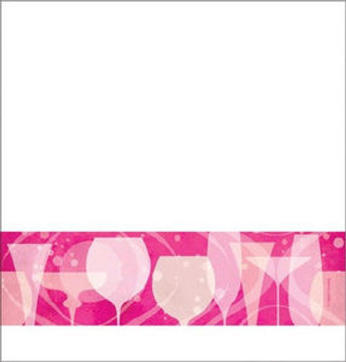 Fabulous Pink Cocktail Drink Birthday Party TableCover