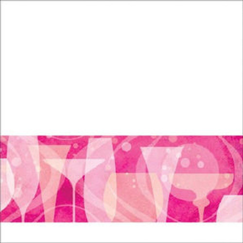 Fabulous Pink Cocktail Birthday Party Beverage Napkins Small 16 ct
