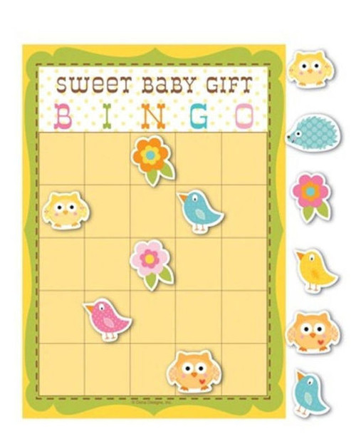 Happi Tree Baby Shower Sweet Baby Owl Decor Party Game Bingo