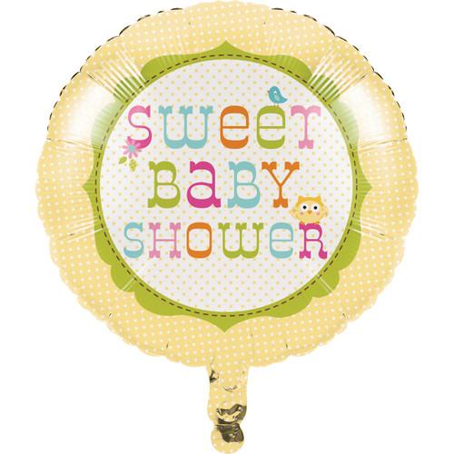 "Happi Tree Baby Shower Sweet Baby Owl Decor  18"" Foil Mylar Balloon"