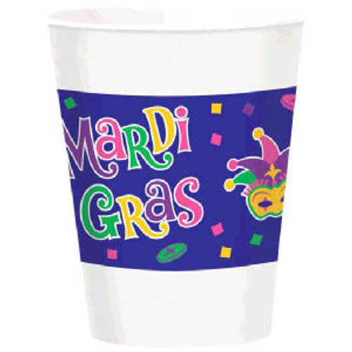 Mardi Gras Beads Party Celebration Collection 16 oz Cups 25 ct Decor