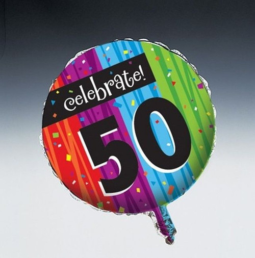 Milestones Foil Balloon Age 50 Milestone Birthday Party
