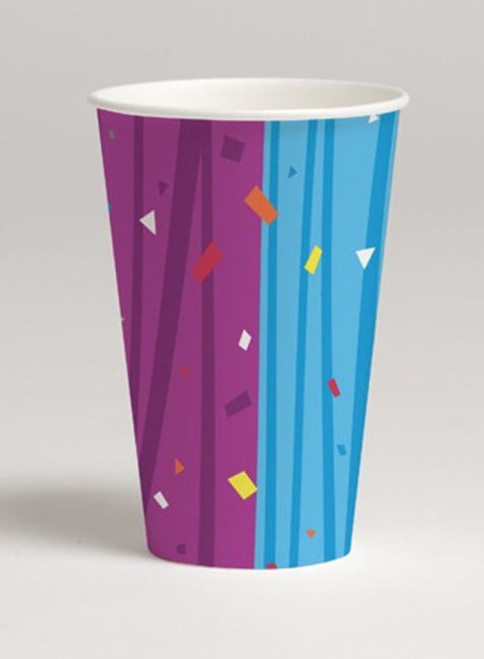 Milestone Celebrate Birthday Over Hill Party Cups 12 oz Hot Cold paper