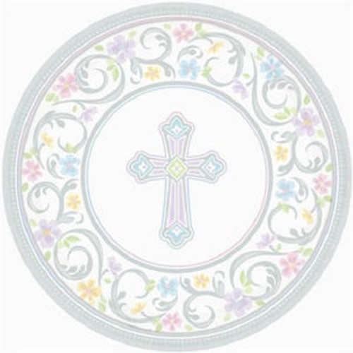 "Blessed Day 18 10.5"" Dinner Plates Baptism Confirmation Communion Christening Party"