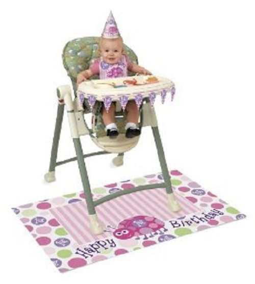 1st Birthday Pink Ladybug Party High Chair Decorating kit