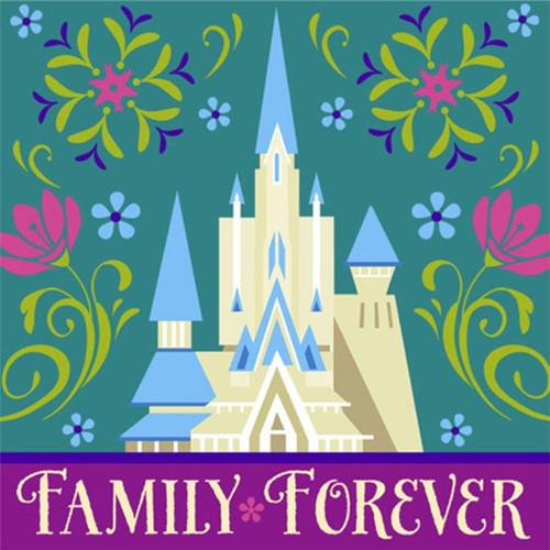 Disney Frozen Beverage Napkins Family Forever Elsa Anna 16 ct Party