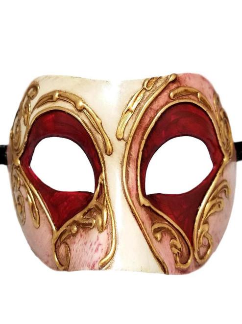 Pink White Gold Colombina Masquerade Mardi Gras Mask Italy Italian Venetian Made