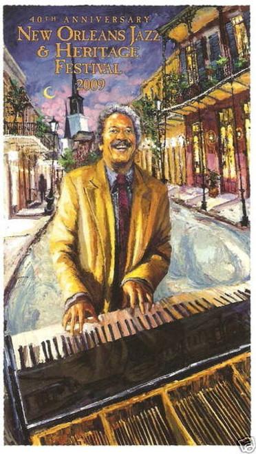 2009 40th New Orleans Jazz Festival Poster Post Card Allen Toussaint