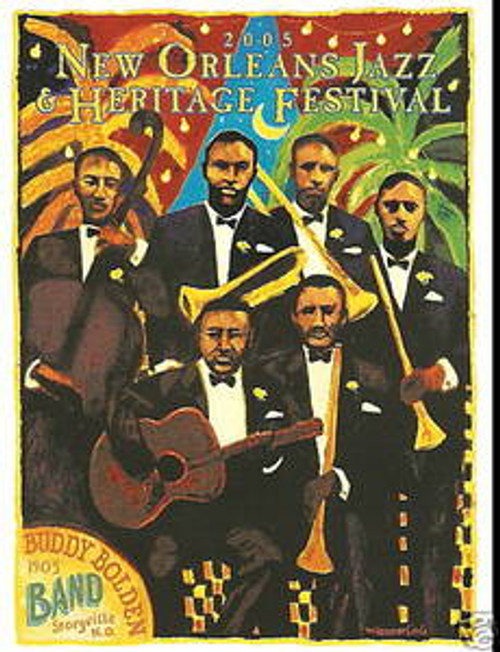 2005 Bolden New Orleans Jazz Festival Poster Post Card Postcard