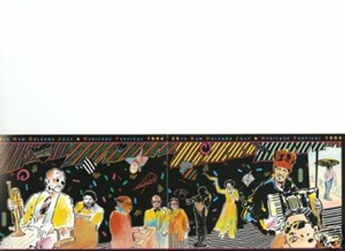 New Orleans Jazz Festival 25th Anniversary Poster Postcard 1994