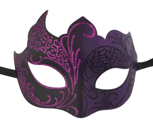 Purple Black Venetian Mask Masquerade Mardi Gras
