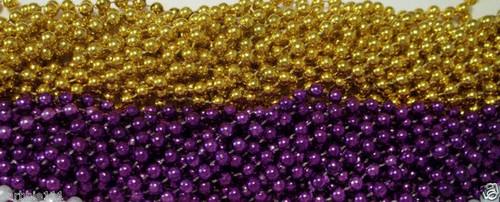 48 LSU Purple Gold Mardi Gras Beads Football Party Favors Tailgate 4 Dozen