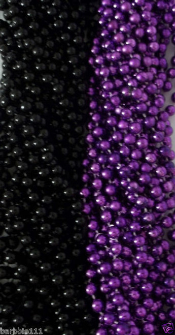 Purple Black Ravens Mardi Gras Beads Football Tailgate Party Lot 24 48 72