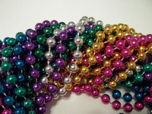 "12 48"" Assorted Colors Mardi Gras Beads Party Favors New 1 Dozen"