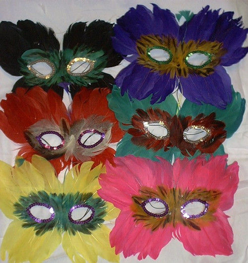 Butterfly Mardi Gras Birthday Party Mask in 6 colors