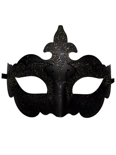 Black Light Gold Glitter Venetian Masquerade Costume Mask Halloween Party