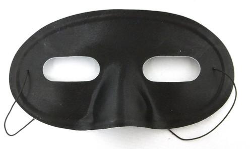 Black Domino Half Mask Mardi Gras Costume Masquerade Mask
