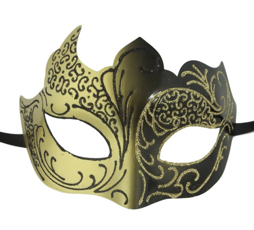 Black Gold Venetian Mask Masquerade Mardi Gras