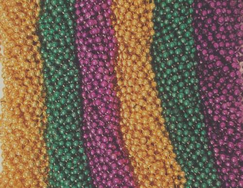 "720 Asst Colors 33"" New Mardi Gras Beads Case Lot Metallic"