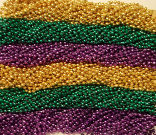 "720 33"" New Assorted Mardi Gras Colors PGG Beads Case Huge Lot"