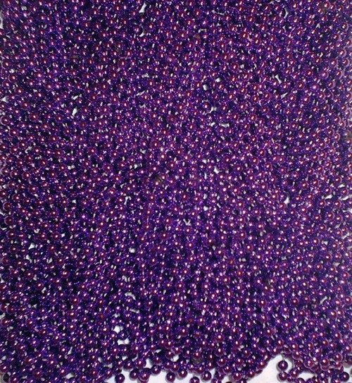72 Purple Mardi Gras Gra Beads Necklaces Party Favors 6 Dozen Lot