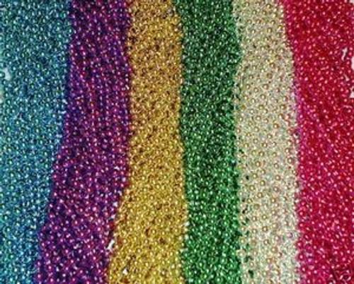 288 Multi-Color Mardi Gras Gra Beads Necklaces Party Favors Huge Lot 24 Dozen