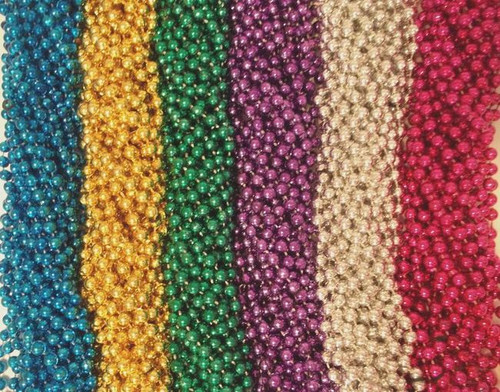 120 (10 Dozen) Mardi Gras Beads Carnival Parade Necklaces Lot
