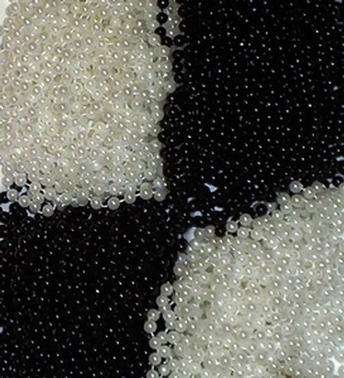 144 Black White Mardi Gras Beads Party Favors Necklaces 12 Dozen Lot