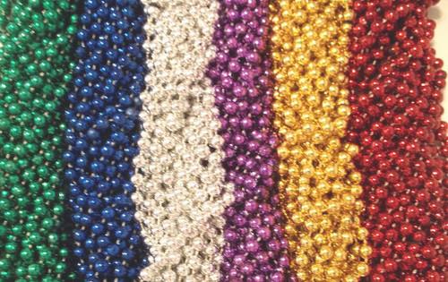 100 Asst 6 color Mardi Gras Gra Beads Necklaces Party Favors Lot