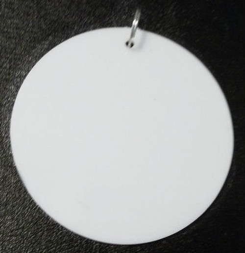 10 Blank White Disc Medallion Metal Ring for Mardi Gras Bead Pendants