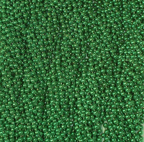 Green Mardi Gras Beads Necklaces Party Favors