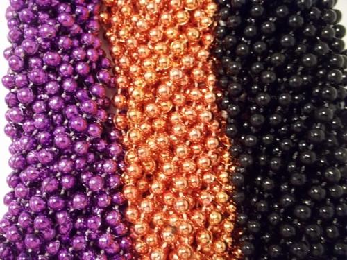Halloween Purple Orange Black Mardi Gras Beads Necklaces Party Favors