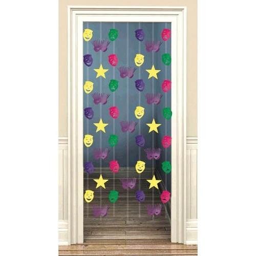 Mardi Gras Doorway Danglers Foil Decoration 7 pc Metallic