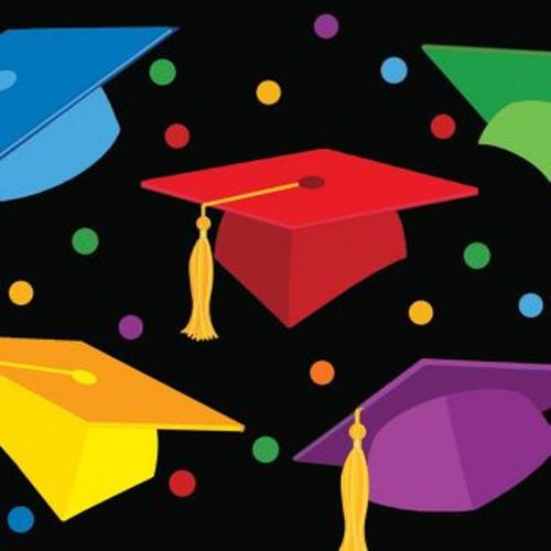 "Graduation Fest Beverage Napkins 18 ct ""Congratulations Grad"" Party"