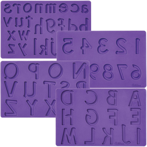 Letters and Numbers Fondant Gum Paste Mold Molds Wilton