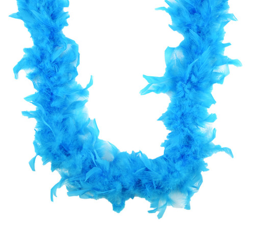 """Dark Turquoise 40 gm 72"""" 6 FT Bachelorette Party Chandelle Feather Boa"""