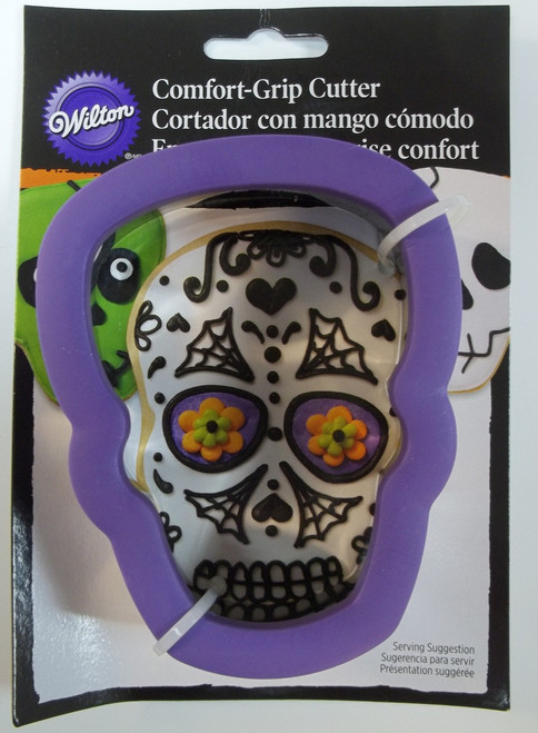Purple Skull Day of the Dead Comfort Grip Cookie Cutter Wilton