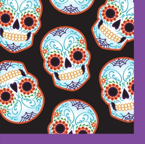 Day of the Dead Halloween Skull 16 Beverage Napkins