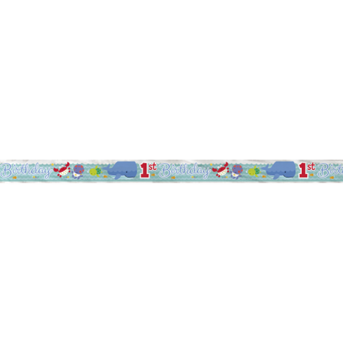"""Under the Sea Pals Foil Banner 12 Ft Party Supply First """"1st Birthday"""""""