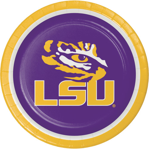 "LSU Tigers 8 9"" Dinner Lunch Plates Tailgating Football Party"