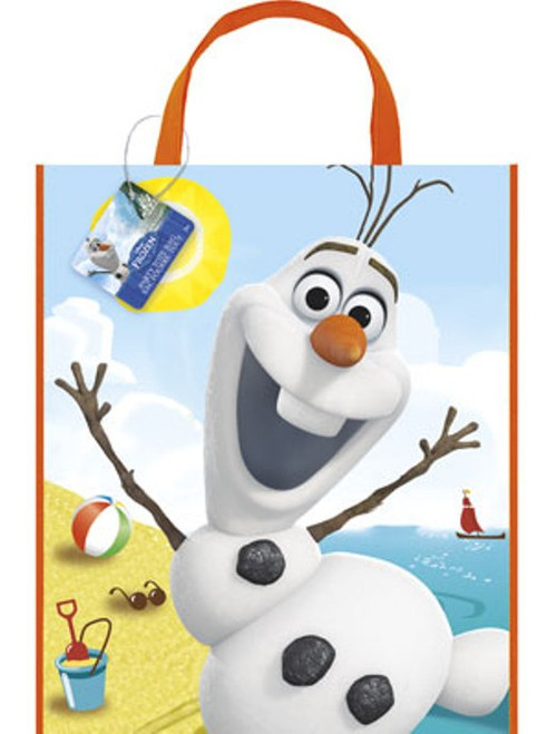 """Olaf Summer Frozen Loot Favors Party Tote Bag 11"""" x 13"""" Halloween"""