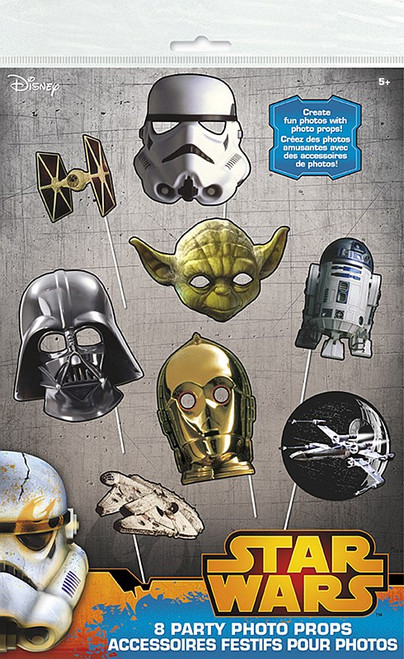 Darth C3PO R2D2 Yoda Star Wars 8 Photo Props Birthday Party