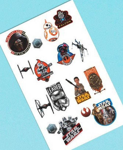 Star Wars Force Awakens VII Temporary Tattoos 16 ct Party Favors Tattoo