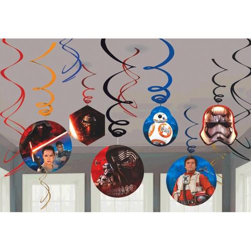 "Star Wars ""The Force Awakens"" VII 12 Swirl Value Pack Hanging Decor"