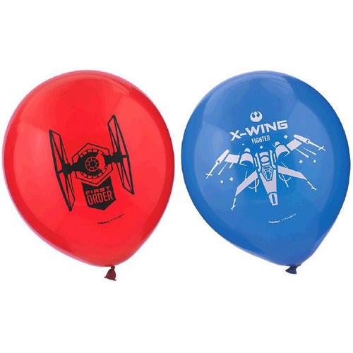 """Star Wars The Force Awakens VII 6 12"""" Latex Printed Balloons Red Blue"""