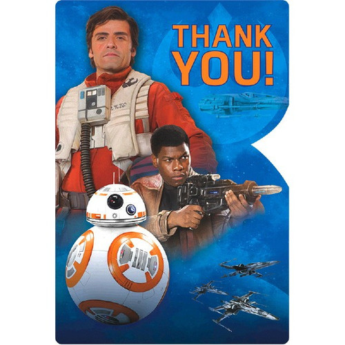 """Star Wars """"The Force Awakens"""" VII 8 Ct Thank You Postcards"""