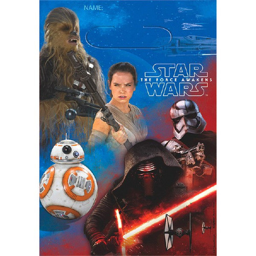 Star Wars The Force Awakens VII 8 Favor Loot Bags Birthday Party